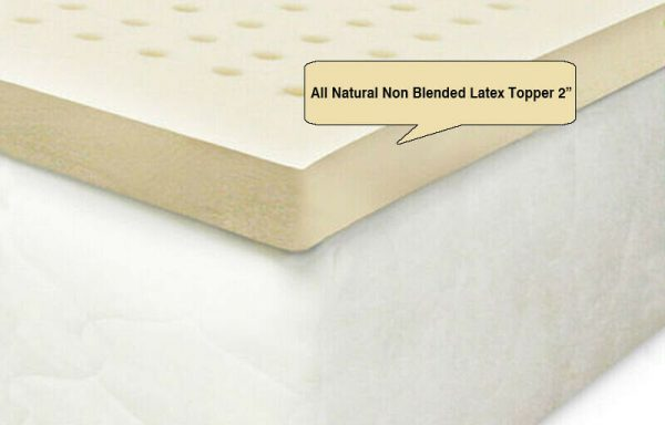 All Natural Non Blended Latex Topper